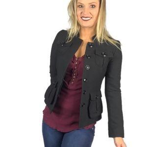 H&M Women's Fitted Blazer Jacket in Black